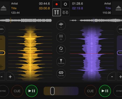 DJ DEX app horizontal waveforms
