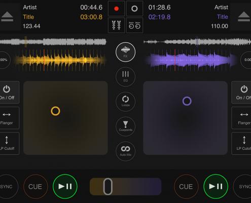 DJ DEX app effects