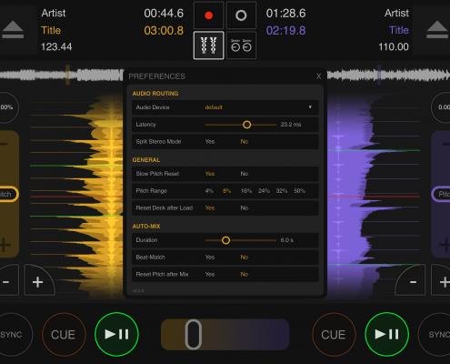DJ DEX App Settings