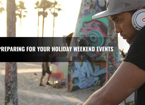 DJ Tips preparing for events