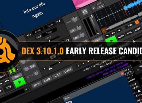 DEX 3.10.1.0 DJ and karaoke software update