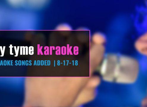 new karaoke songs from Party Tyme karaoke