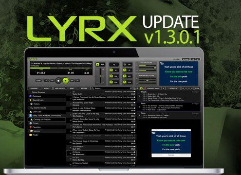 LYRX Karaoke software for MAC update 1.3.0.1