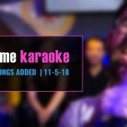 Party Tyme Karaoke Subscription Update 11-5-18