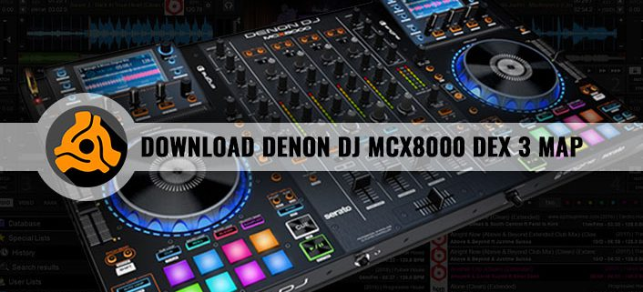 Denon MXC8000 DEX 3 DJ Software Map