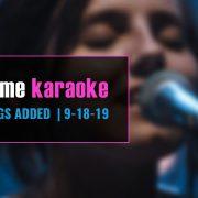 Party Tyme Karaoke Subscription New Karaoke Songs 9-18-19