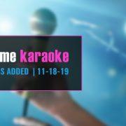 New karaoke hits 11-18-19