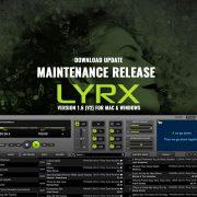 LYRX karaoke software update