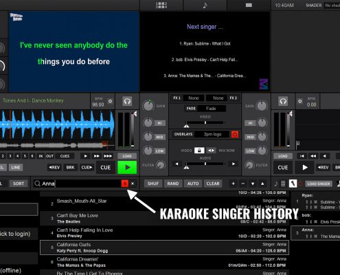 DEX 3 searching singer history