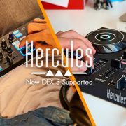 Hercules DJ Controllers now DEX 3 DJ Software supported