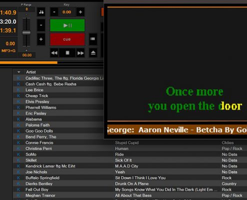 Karaoki Karaoke software singer scroll
